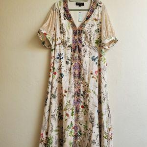 Anthropology Floral Summer Dress